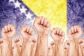 Bosnia and Herzegovina Labor movement, workers union strike — Stock Photo