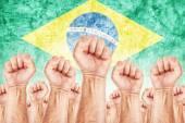 Brasil Labor movement, workers union strike — Stock Photo