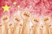 China Labor movement, workers union strike — Stock Photo