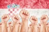 Croatia Labour movement, workers union strike — Stock Photo