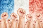 France Labour movement, workers union strike — Stock Photo