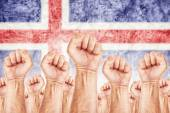 Iceland Labour movement, workers union strike — Stock Photo