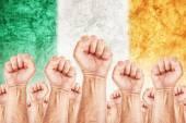 Ireland Labour movement, workers union strike — Stock Photo