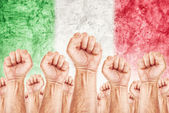 Italy Labour movement, workers union strike — Stock Photo