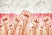 Poland Labour movement, workers union strike — Stock Photo