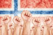Norway Labour movement, workers union strike — Stock Photo