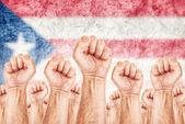 Puerto Rico Labour movement, workers union strike — Stock Photo