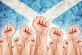 Scotland Labour movement, workers union strike — Stock Photo
