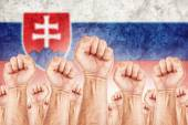Slovakia Labour movement, workers union strike — Stock Photo
