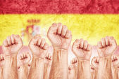 Spain Labour movement, workers union strike — Stock Photo