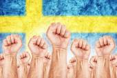 Sweden Labour movement, workers union strike — Stock Photo