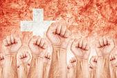 Switzerland Labour movement, workers union strike — Stock Photo