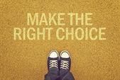 Make The Right Choice — Stock Photo