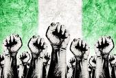Nigeria Labor movement, workers union strike — Stock Photo