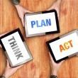 Think Plan Act Business Concept — Stock Photo #62668629