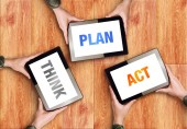 Think Plan Act Business Concept — Stock Photo