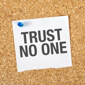 Trust No One — Stock Photo
