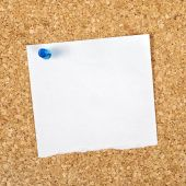 Blank Reminder Note as Copy Space — Stock Photo