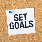 Ziele setzen — Stockfoto