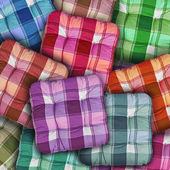 Plaid Colorful Cushions — Stock Photo