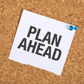 Plan Ahead — Stock Photo