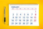February Calendar Page — Stock Photo