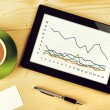 Business Chart Analysis on Tablet Computer — Stock Photo #63999499