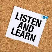 Listen And Learn — Stock Photo