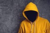 Faceless Man with Hodded Jacket — Stock Photo