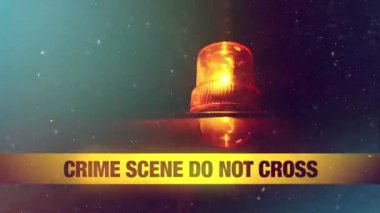 Crime Scene Do Not Cross Yellow Headband Tape — Stock Video