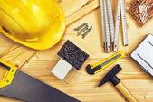 Assorted Woodwork and Carpentry or Construction Tools — Stock Photo