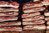 Cured Bacon Stack — Stock Photo