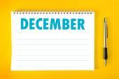 December Calendar Blank Page — Stock Photo