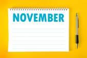 November Calendar Blank Page — Stock Photo