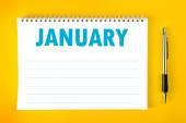 January Calendar Blank Page — Stock Photo