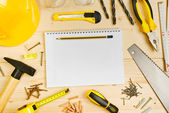 Planning a Project in Carpentry and Woodwork Industry — Stock Photo