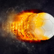 Soccer Ball Burning in Flames — Stock Photo #66491313