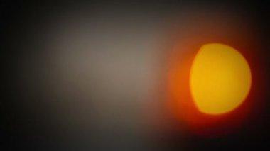 Flashing revolving light bokeh — Stock Video