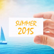 Tourist Agent With Summer 2015 Visiting Card — Stock Photo #67505419