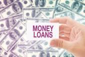 Money Loan in Dollar Banknotes — Stok fotoğraf