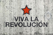 Viva La Revolucion Graffiti — Stock Photo