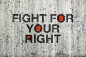 Fight For Your Right Grafitti — Stock Photo