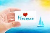 Summer Vacation on Morooco Beach — Stock Photo