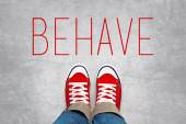 Behave Reminder for Young Person, Top View — Stock Photo
