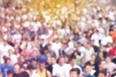 Blur Defocus People Running Marathon — Stock Photo