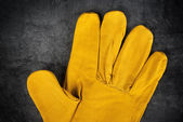Leather Construction Work Gloves Detail — Stock Photo