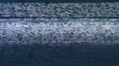 Bad Sync TV, Television Screen with Static Noise from Bad Broadcast Signal Reception — Stock Video