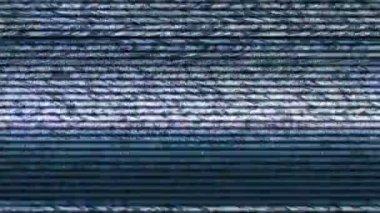Má sincronização Tv, tela de televisão com ruído estático — Vídeo stock