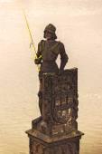 Knight Brunswick (Bruncvik) Statue on Charles Bridge in Prague — Stock Photo