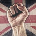 Great Britain riot fist — Stock Photo #79392986